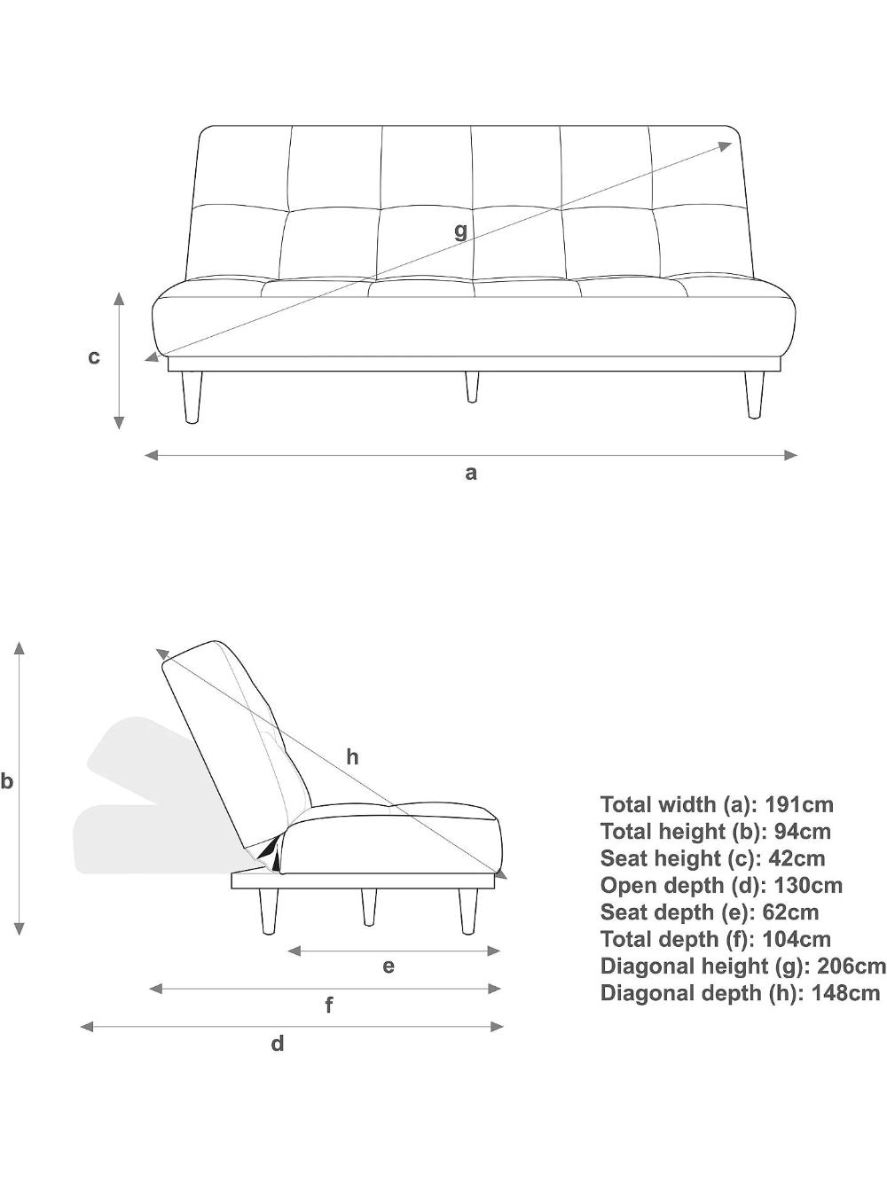 John Lewis Partners Linear Medium 2 Seater Sofa Bed Light Leg French Grey At John Lewis Partners In 2020 French Grey Sofa Bed 2 Seater Sofa