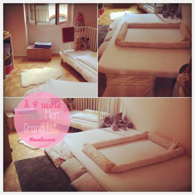 d s 9 mois dans mon grand lit machambremontessori montessori la maison activit s enfants. Black Bedroom Furniture Sets. Home Design Ideas