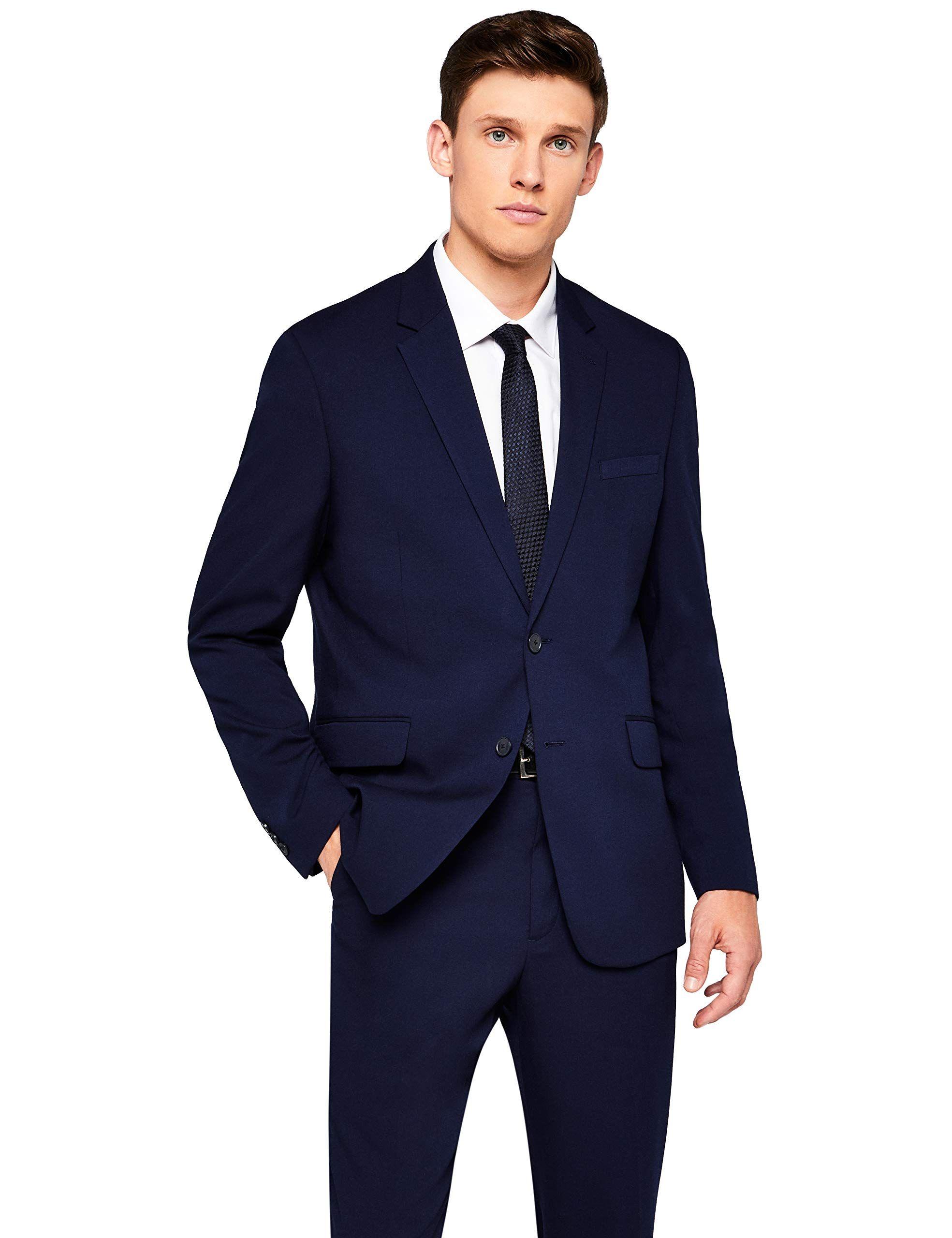 Allthemen Herren Anzughose Regular Fit Kariert Stretch Business Anzughose