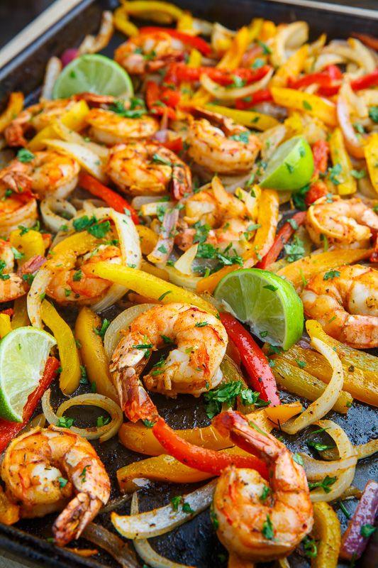 Sheet Pan Shrimp Fajitas - Closet Cooking