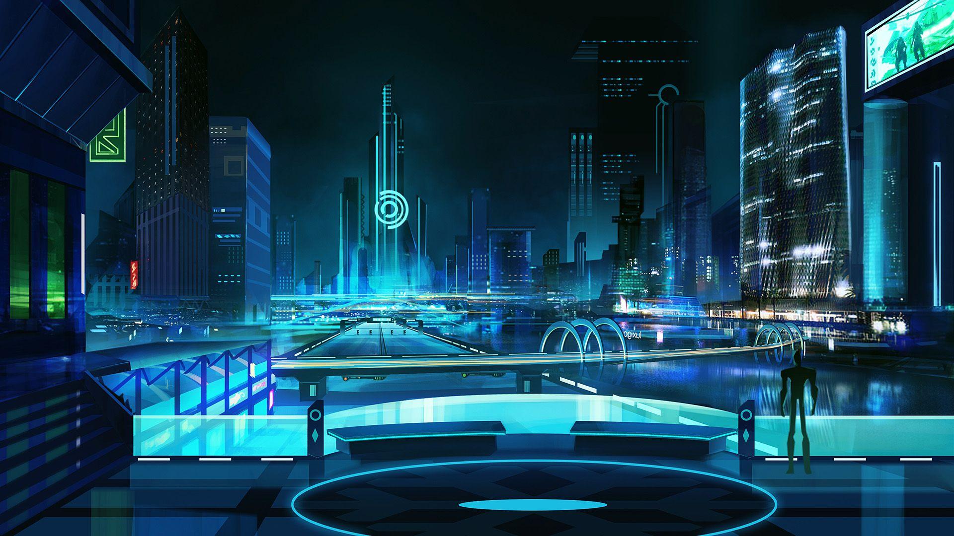 cyberpunk wallpapers (1920x1080) 未来都市, 都市景観