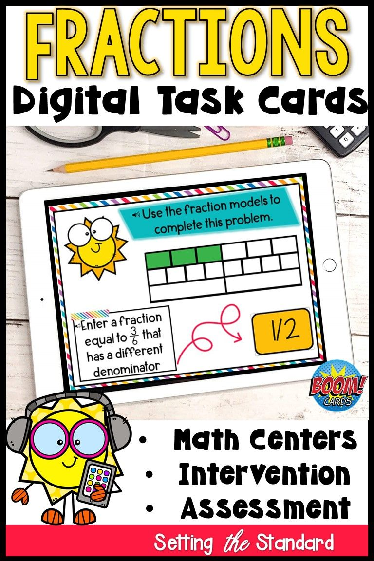 Equivalent fractions boom cards distance learning in 2020