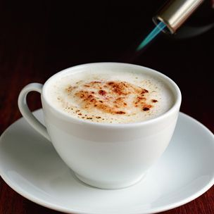 Brûléed Cappuccino - lovely way to finish a special evening