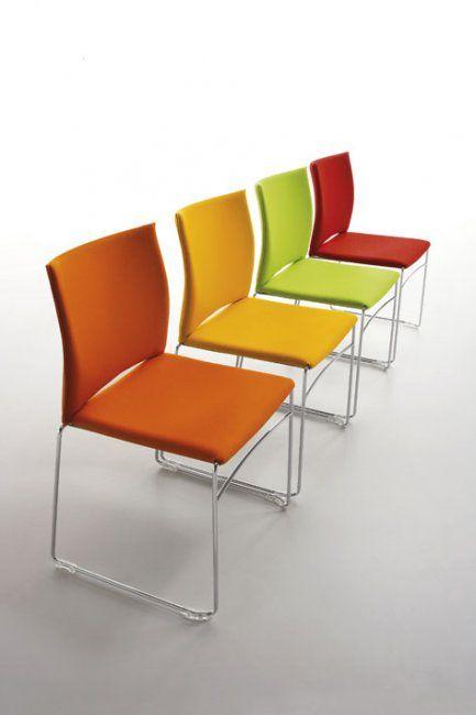 WEB - Chaise de réunion, piètement traineau - Design ...