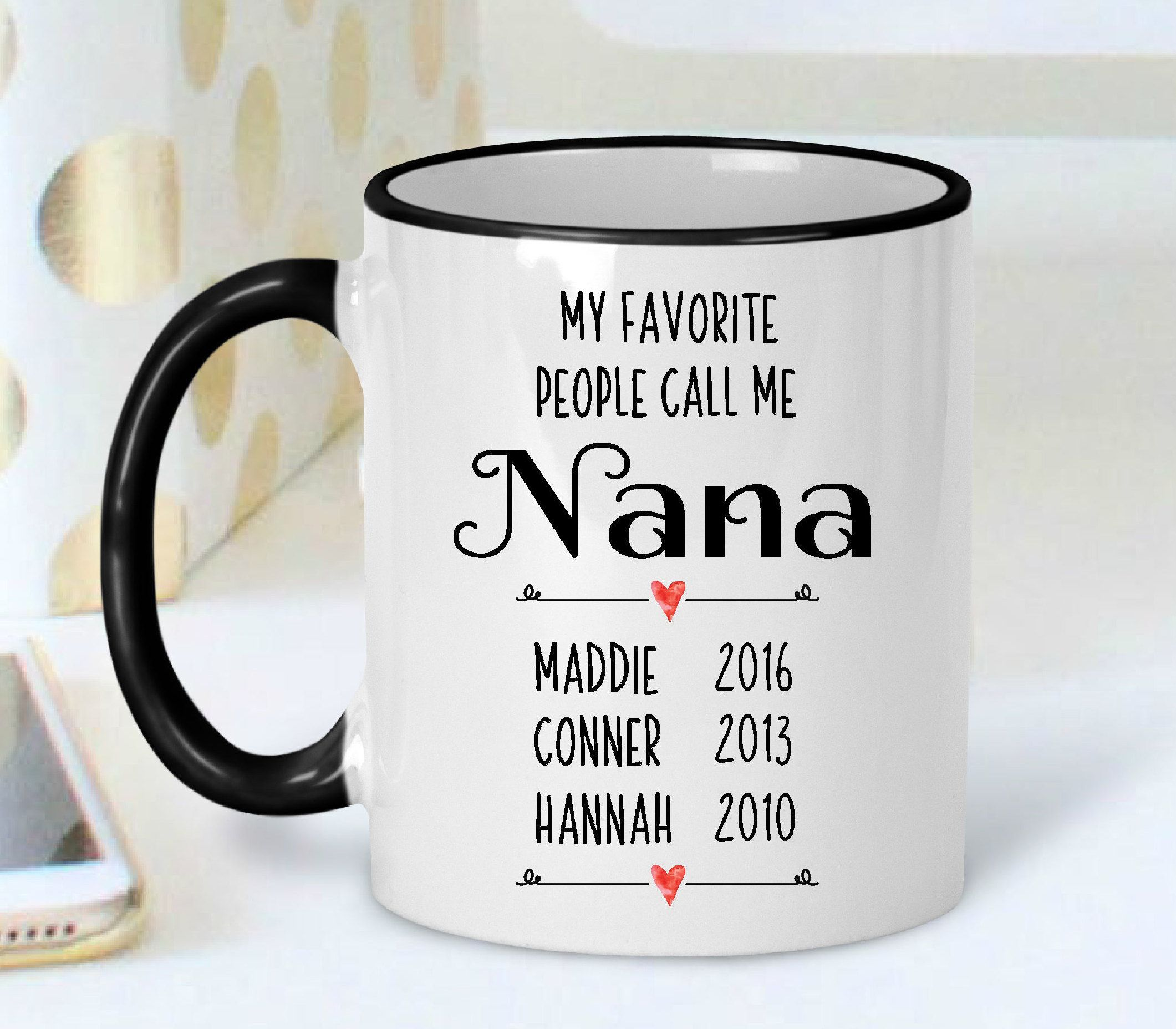 Grandparent Mug  Nana Mug  Grandma Mug  Personalized