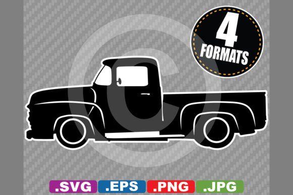 Classic Antique 1956 Pickup Silhouette Graphic By Idrawsilhouettes Creative Fabrica Pickup Trucks Truck Driver Trucks