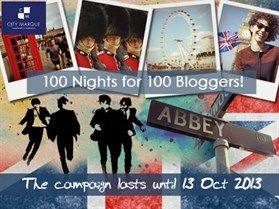 Are you a travel blogger planning a trip to London? City Marque is giving away 100 nights of free accommodation!  If you have a travel blog, or write about London and has a substantial social following, your accommodation is on us! Visit http://www.citymarque.com/offers/ for detailed information.  See you in London soon! #100Bloggers100Nights