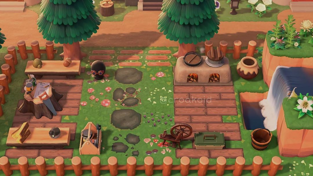 Em On Instagram The Tinker S Crafting Area I Really Liked This Idea Even Though It S No Animal Crossing Cafe Animal Crossing Animal Crossing Game