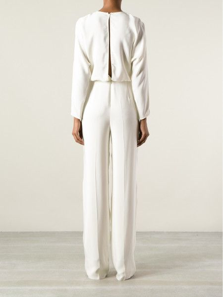 long sleeve white jumpsuits - Google Search | Wedding | Pinterest ...