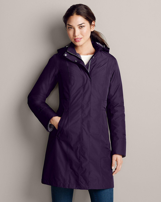 Eddie Bauer Eddie Bauer Girl On The Go Insulated Trench Coat Womens  Outdoor