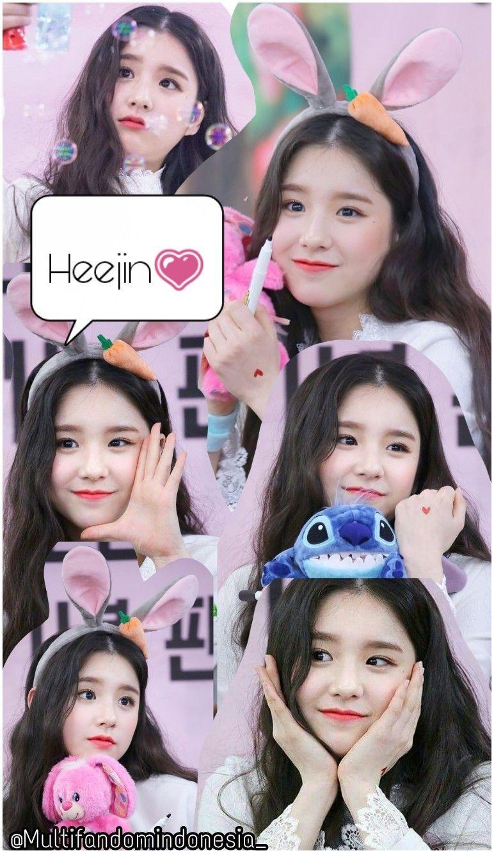 Wallpaper Lockscreen Heejin Loona Selebritas Poster Bunga Bunga