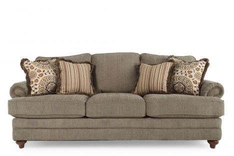 Lzb 610 452 D113724 La Z Boy Cadence Loden Sofa Mathis Brothers Furniture 1275 92wx40dx41 5h Seat Ht 21 Depth 50