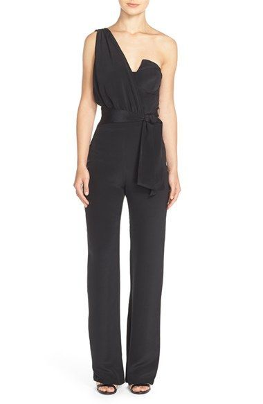 Misha Collection 'Maralah' One-Shoulder Silk Jumpsuit available at #Nordstrom
