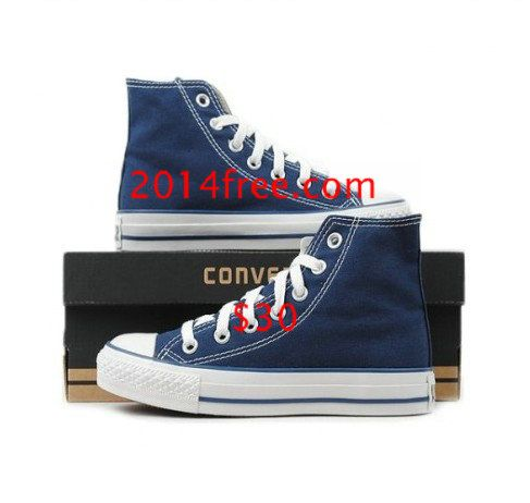 420ed72eedb Converse Shoes Navy Blue Chuck Taylor All Star Classic High Top ...