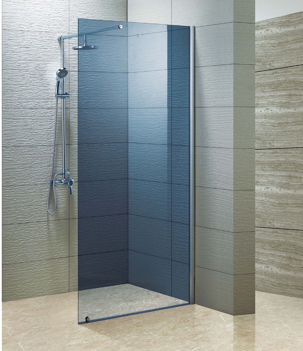 Custom Made 10mm Blue Glass Door Stainless Steel Hardware Bath Combo Walk In Shower Enclosure Kd8006a Glass Shower Enclosures Glass Shower Doors Glass Shower