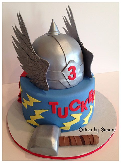 Phenomenal Thor Birthday Cake Thor Cake Boy Birthday Cake Thor Birthday Personalised Birthday Cards Paralily Jamesorg
