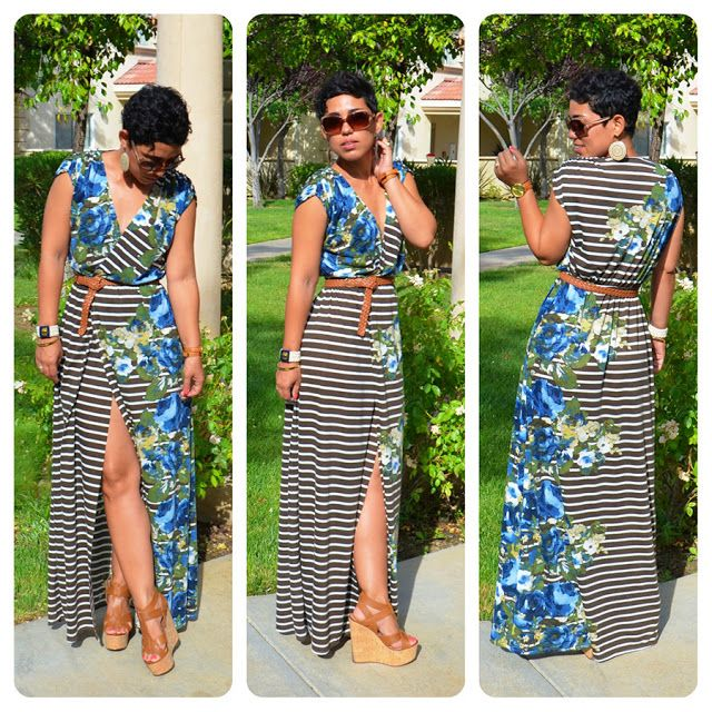#DIY Front Slit Maxi Dress + Pattern Review McCalls 6744 View C |Fashion, Lifestyle, and DIY