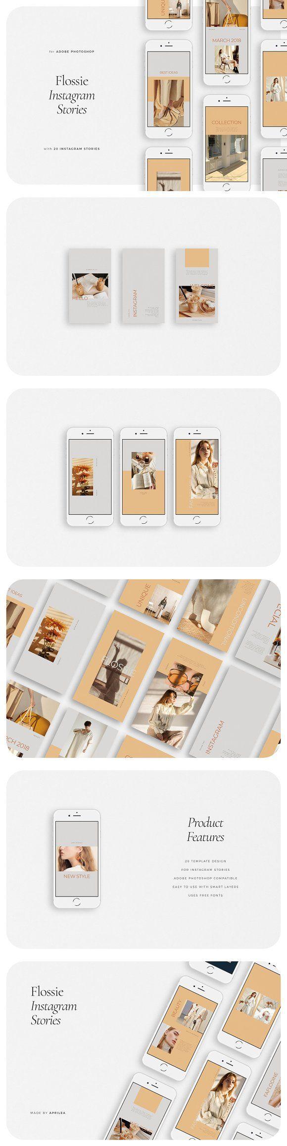 Photo of FLOSSIE Instagram Stories by Aprilea on Creative Market