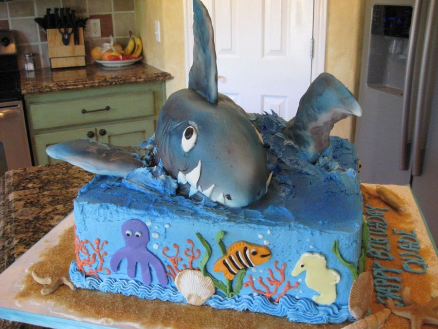 Ocean Themed Birthday Cake On Central
