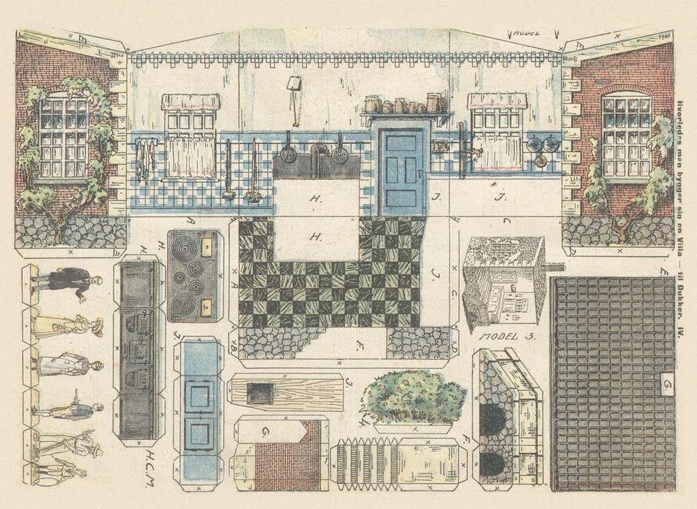 Il favoloso mondo di carta di Totò: Doll's Houses (So many rooms, houses and furniture too!!!)