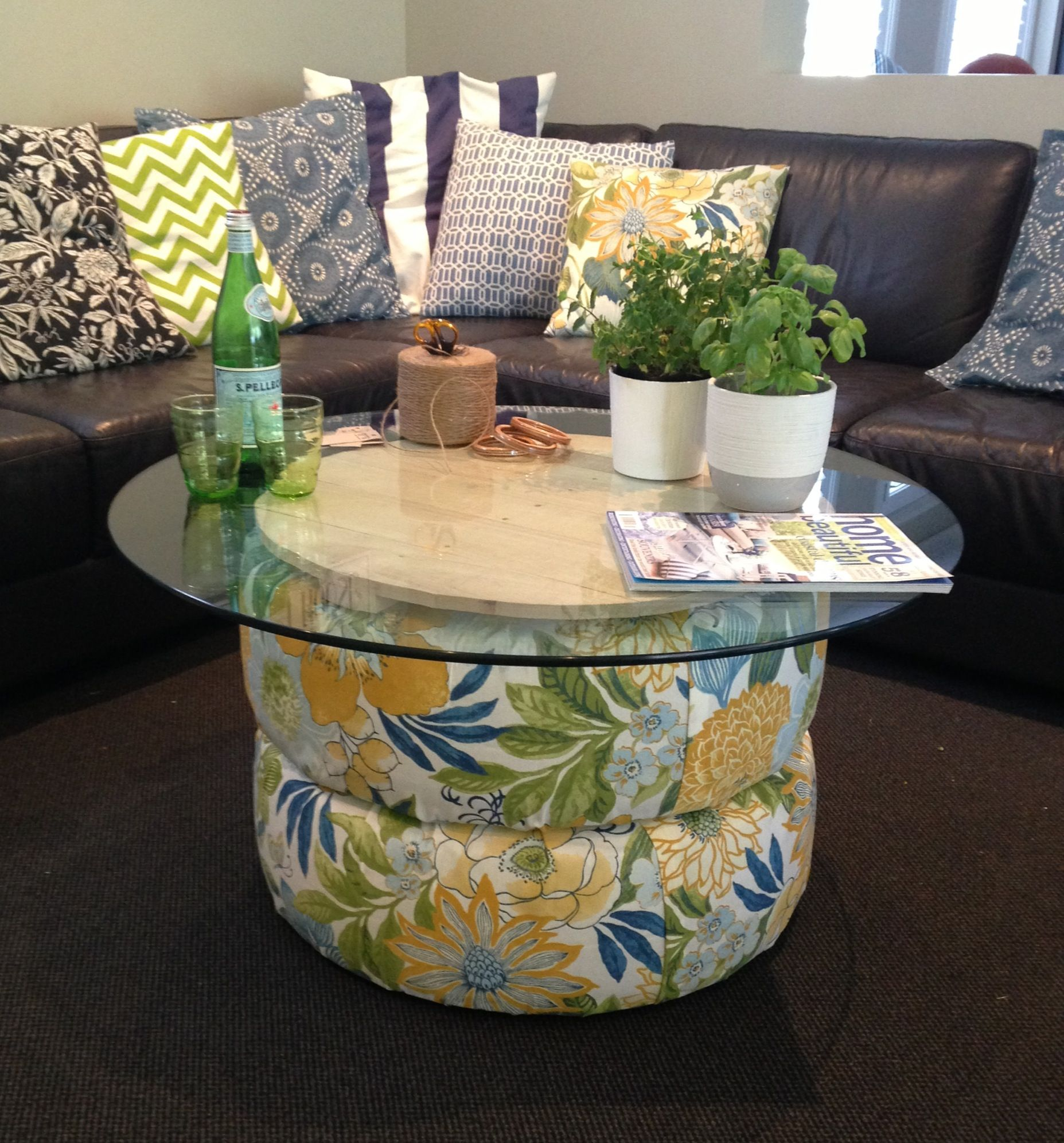 recycled furniture pinterest. Recycled Tyres And A Pallet Turn Into Beautiful Funky Coffee Table Furniture Pinterest C