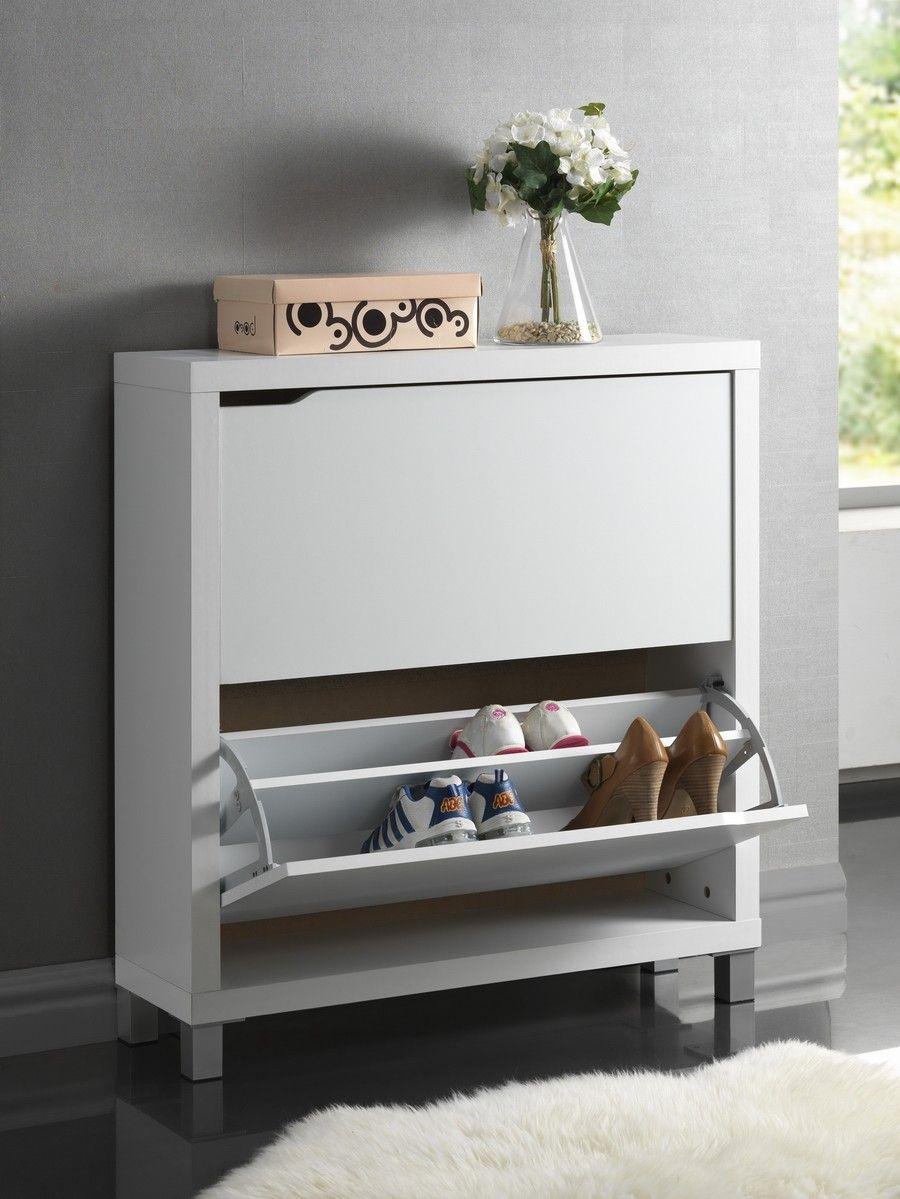 Baxton Studio Simms White Modern Shoe Cabinet Reviews