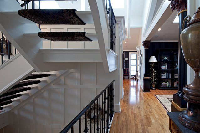 Love the moulding in the stairwell... as well as the entire house ...