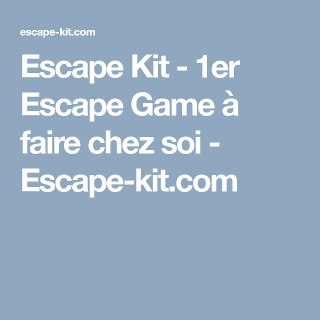 Escape Game Imprimer Chez Soi Escape Game Pdf Gratuit