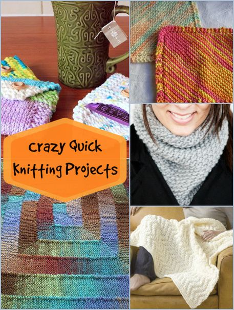 6 Crazy Quick Knitting Projects Knitting Patterns Tutorials