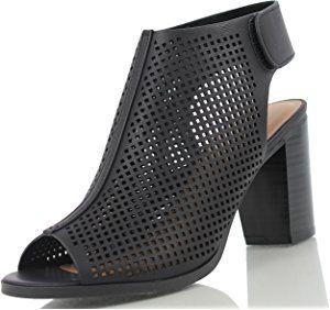 c638d64909f Peep Toe Ankle Strap Sandal – Western Bootie Low Stacked Heel Open Toe  Cutout Velcro – Casual by J Adams