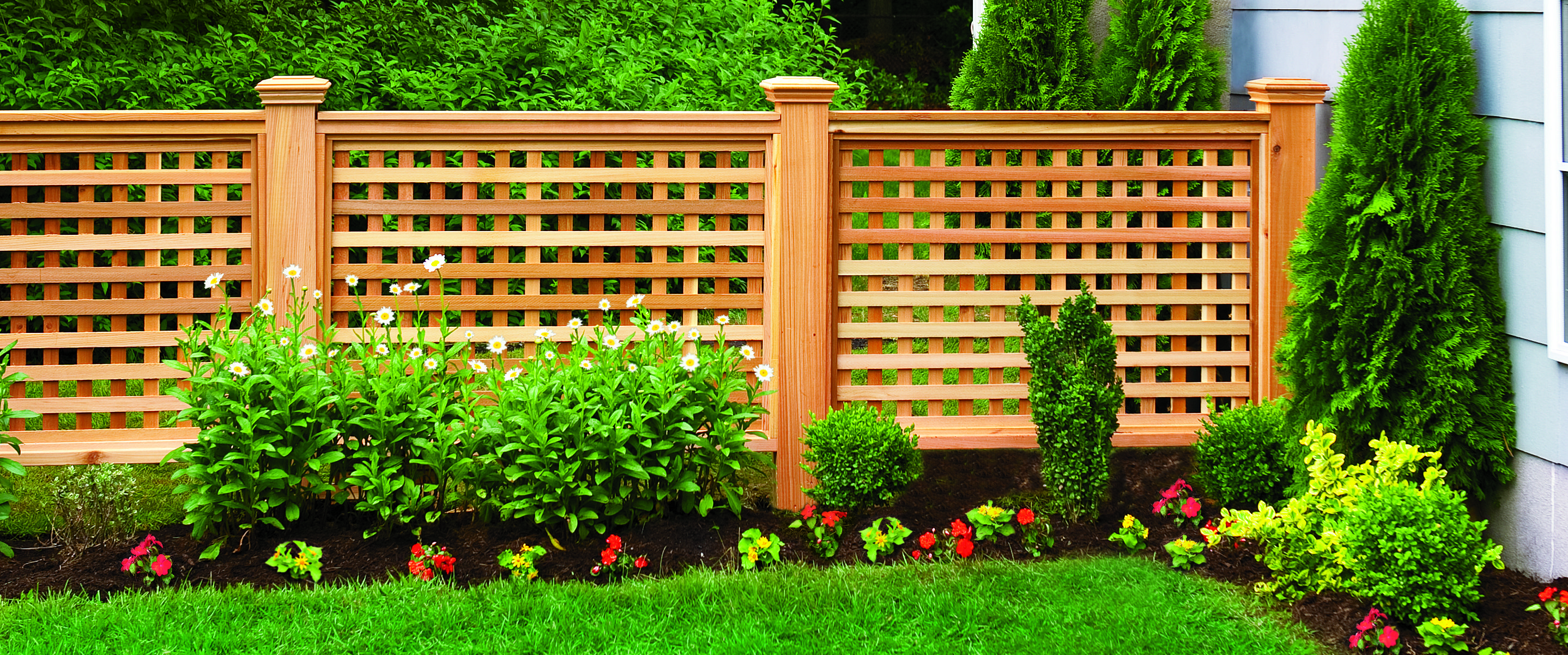 How to Build a Wood Lattice Fence | Wood fence design