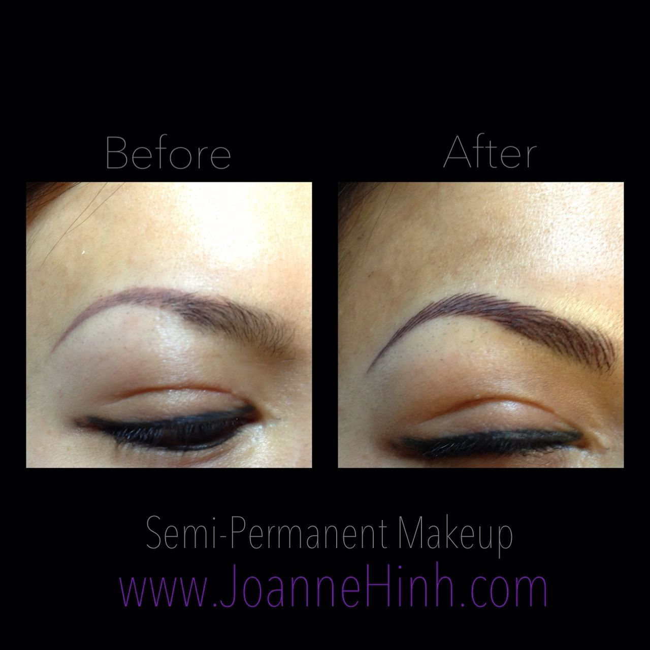 Hairstroke Eyebrow Embroidery By Joanne Hinh. Brow Embroidery. Brow Tattoo. Permanent Makeup ...