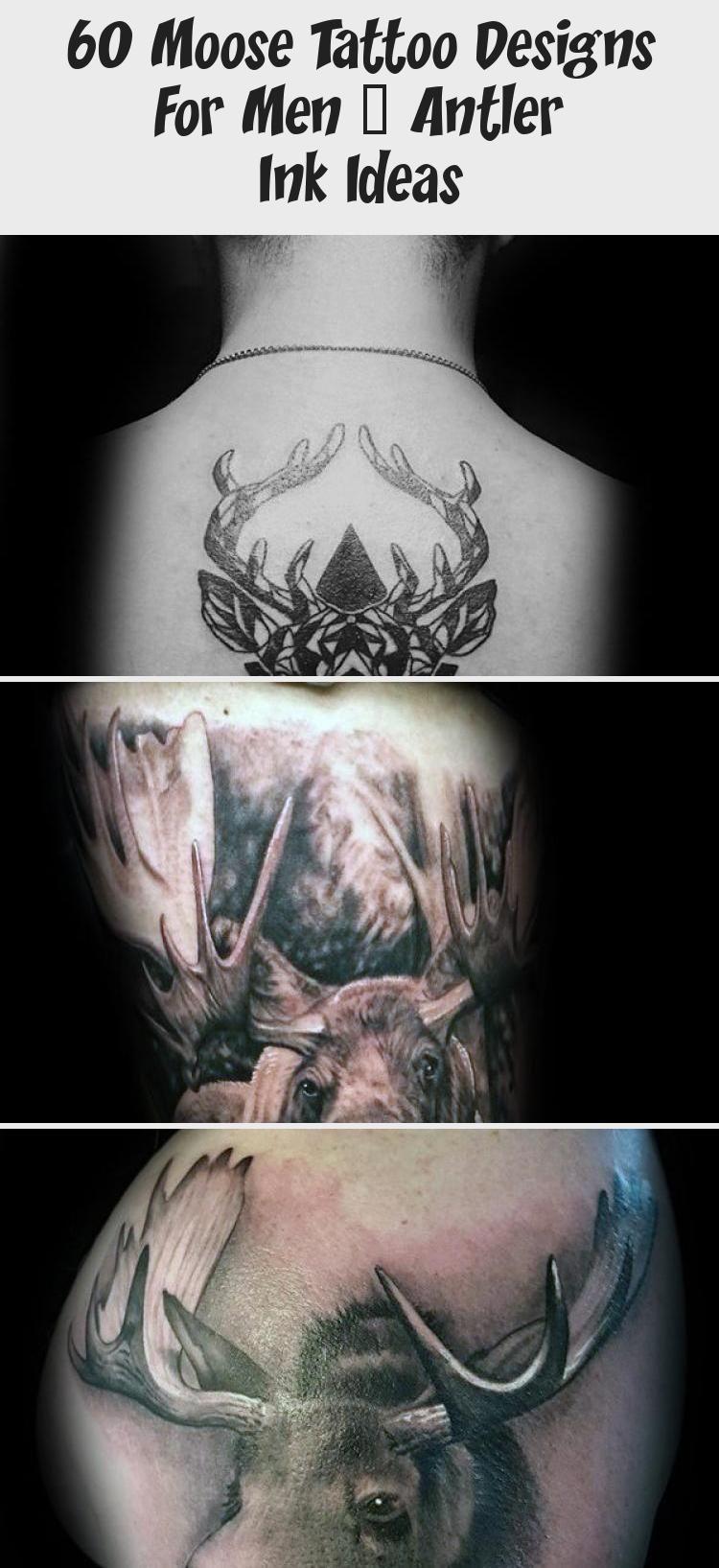 Photo of 60 Elch Tattoo Designs für Männer – Geweih Tinte Ideen – Tattoo İdeas –  Klei…
