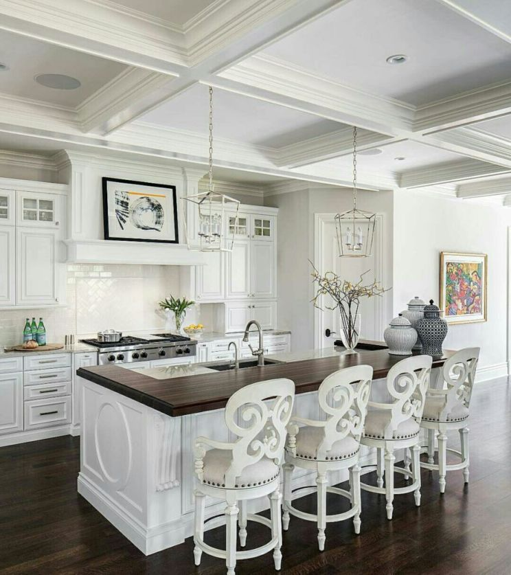 50 Beautiful Hampton Style Kitchen Designs Ideas   Round Decor