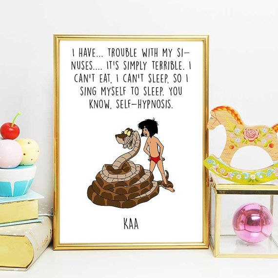 Jungle Book Printable Kaa And Mowgli Disney Quotes Jungle Etsy Jungle Book Birthday Party Jungle Book Party Theme Jungle Book Birthday