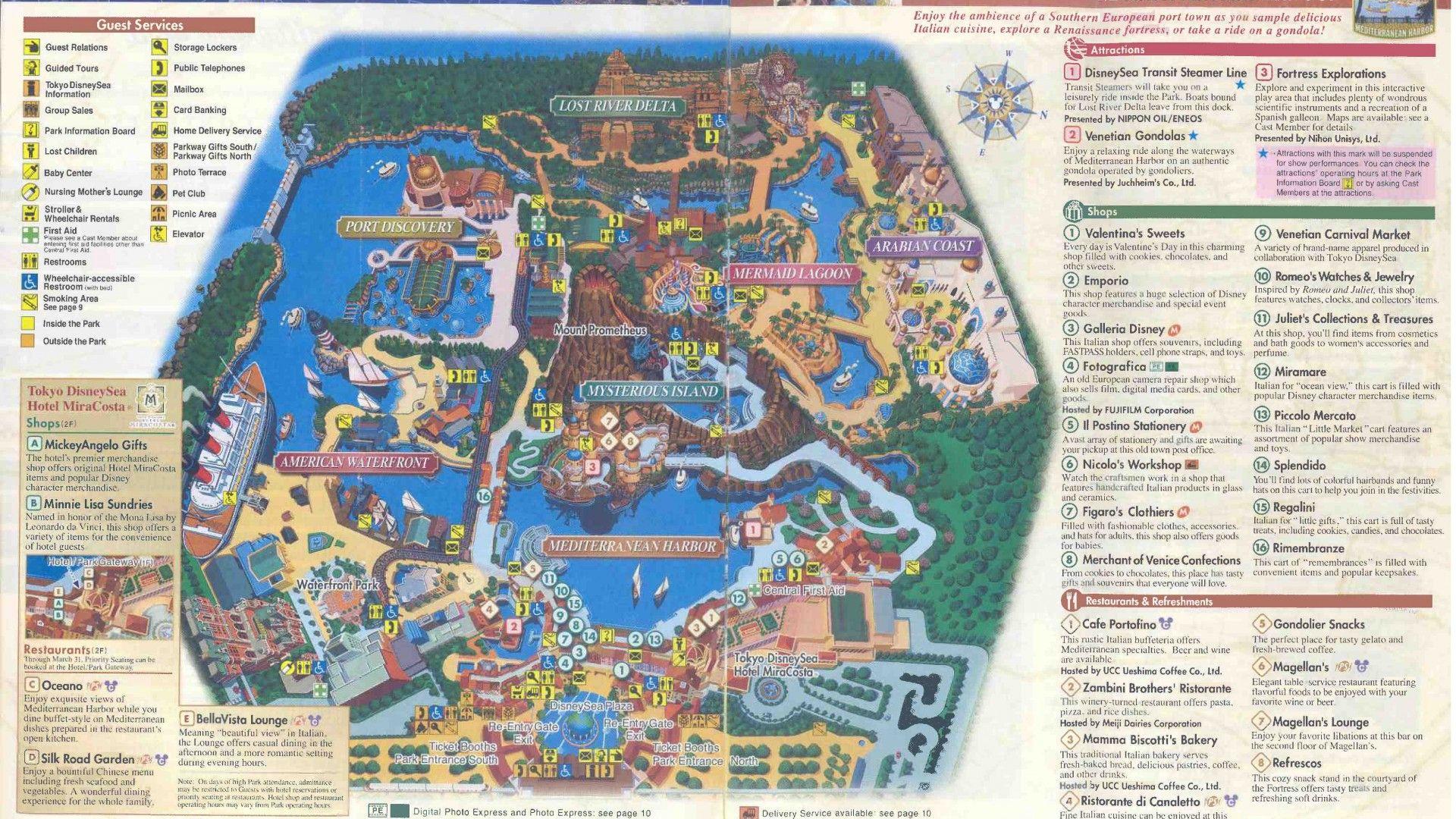 Tokyo Disneysea Is A 176 Acre (7122 Ha) Theme Park At