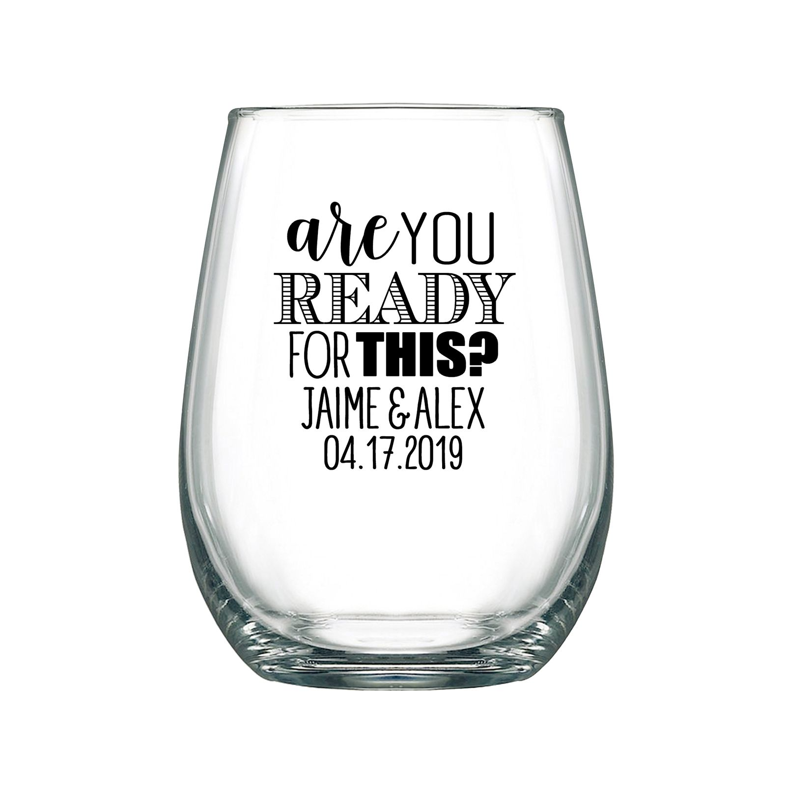Wedding Gifts For Relatives: Personalized Stemless Wedding Wine Glasses Chic Wedding