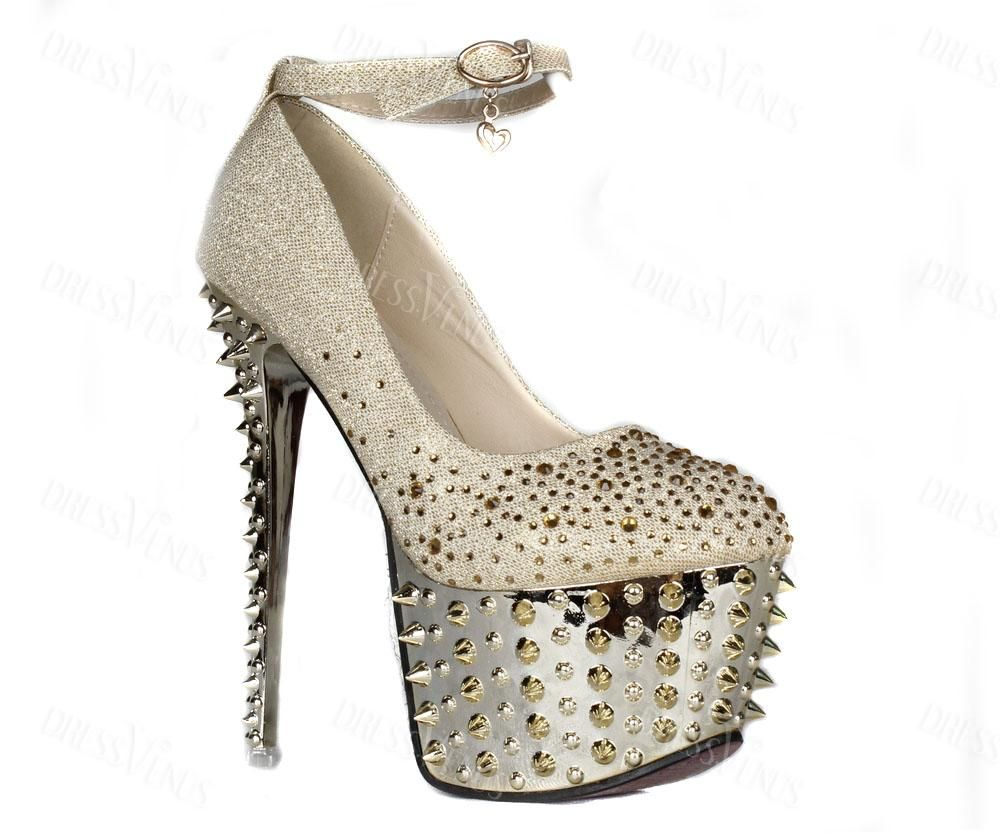 Shop Glamorous Light Golden High Heels Women Pumps on sale at Tidestore  with trendy design and good price. Come and find more fashion Prom Shoes  here.