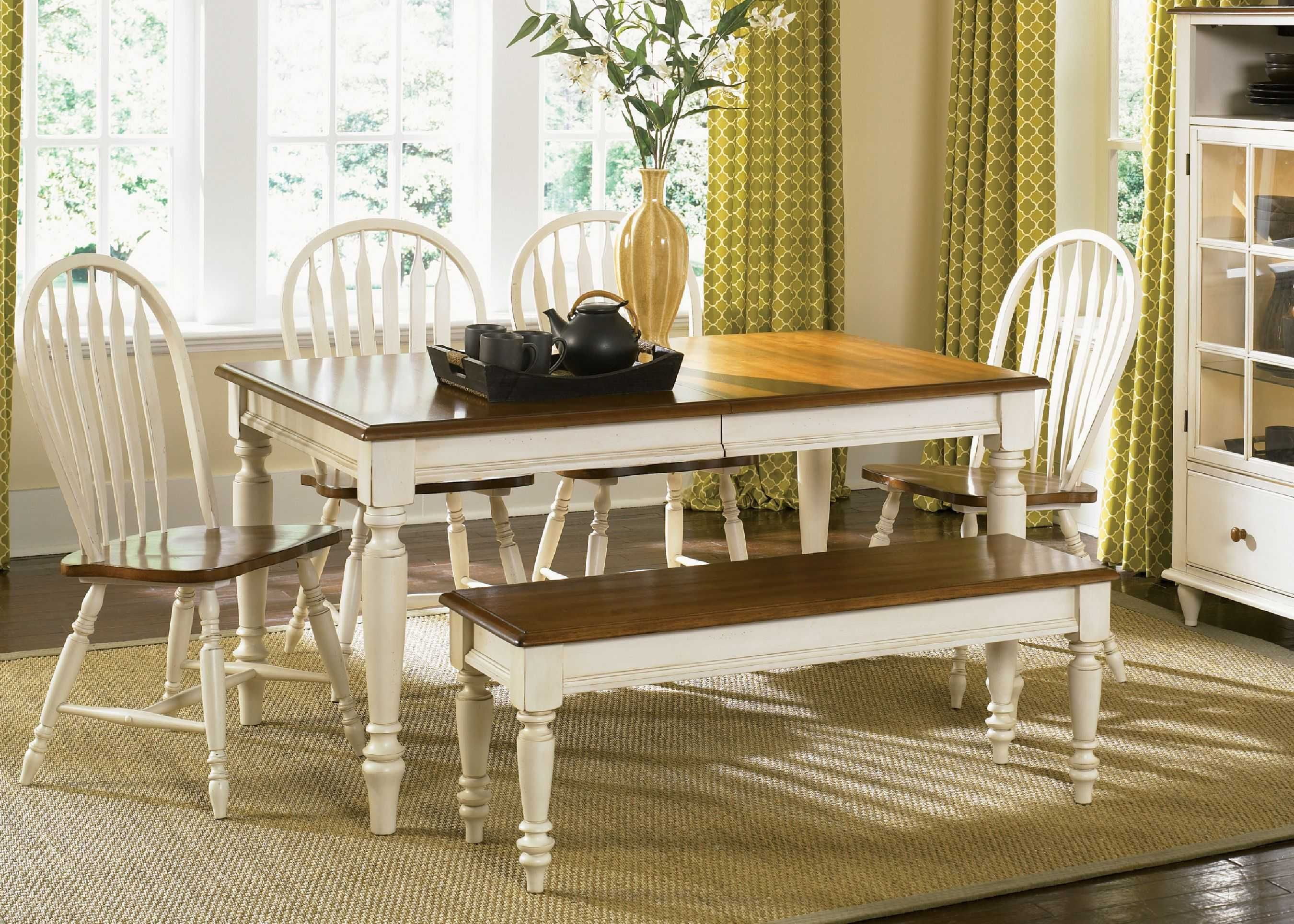 Superior Elegant Elegant Country Style Dining Room Wooden Dining Room Table With Andu2026