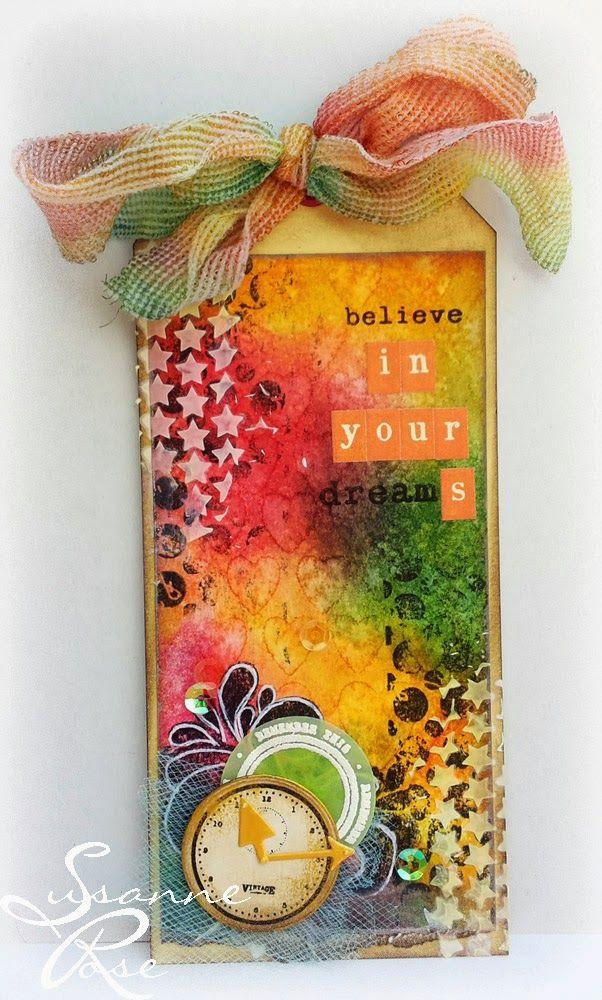 Clay & Scrap - Kreativ: Weil das Panschen mir Farbe so schön ist...: #mixedmedia #tag #distressink