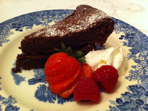delicious low cal chocolate flourless cake