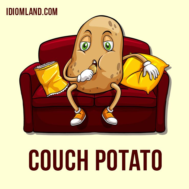 Hi There Our Idiom Of The Day Is Couch Potato Which Means