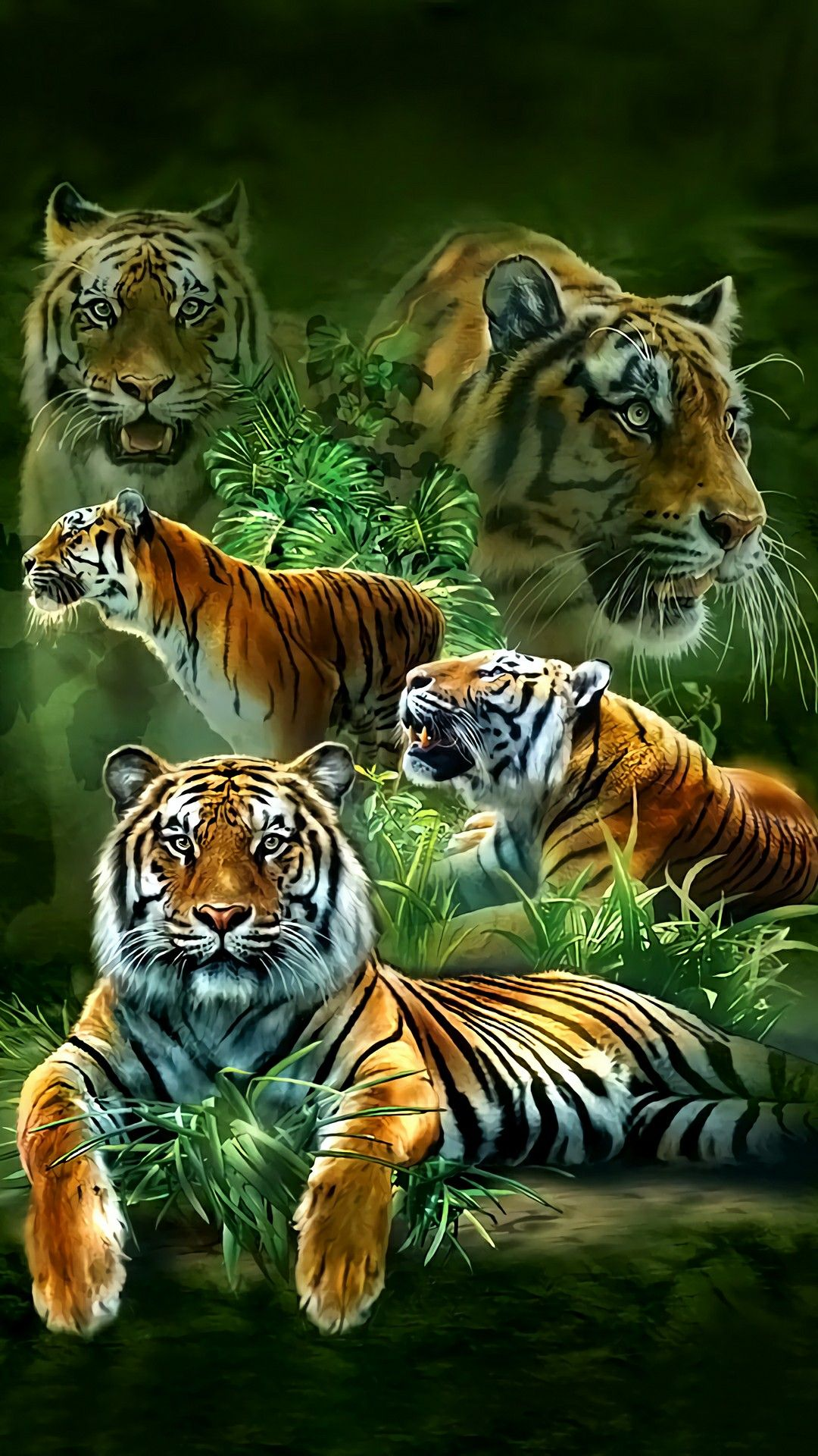 Family Of Tiger S Big Cats Cute Tiger Cubs Animals Beautiful