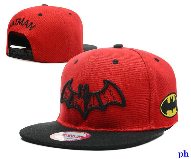 plano gorras batman planas rojas-005  f70acf60f83