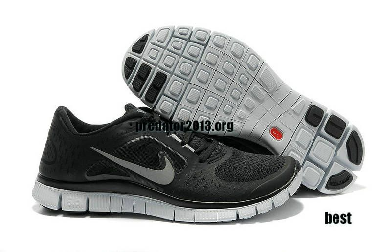 new style 0e772 4f5ff ... ireland womens nike free shoes nike free run 3 5.0 black wolf grey  reflect silver 5d466