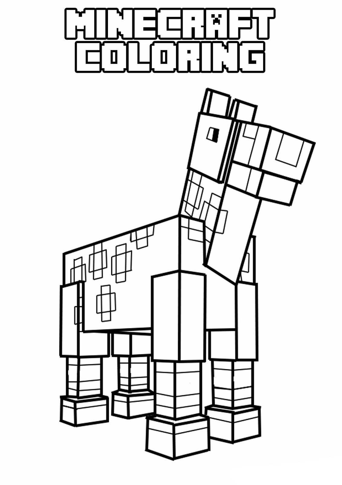 Minecraft Cavalo Desenhos Minecraft Paginas Para Colorir Minecraft Para Colorir
