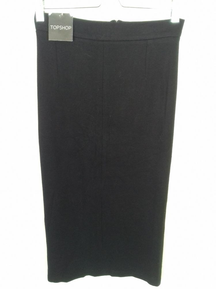 54908458ff NEW Topshop Size 8 Black Cotton High Waist Stretch Midi Skirt #fashion # clothing #shoes #accessories #womensclothing #skirts (ebay link)