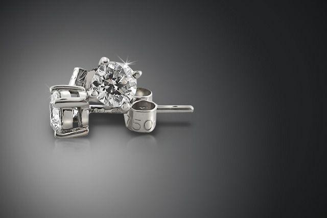 Diamond & White Gold Earrings