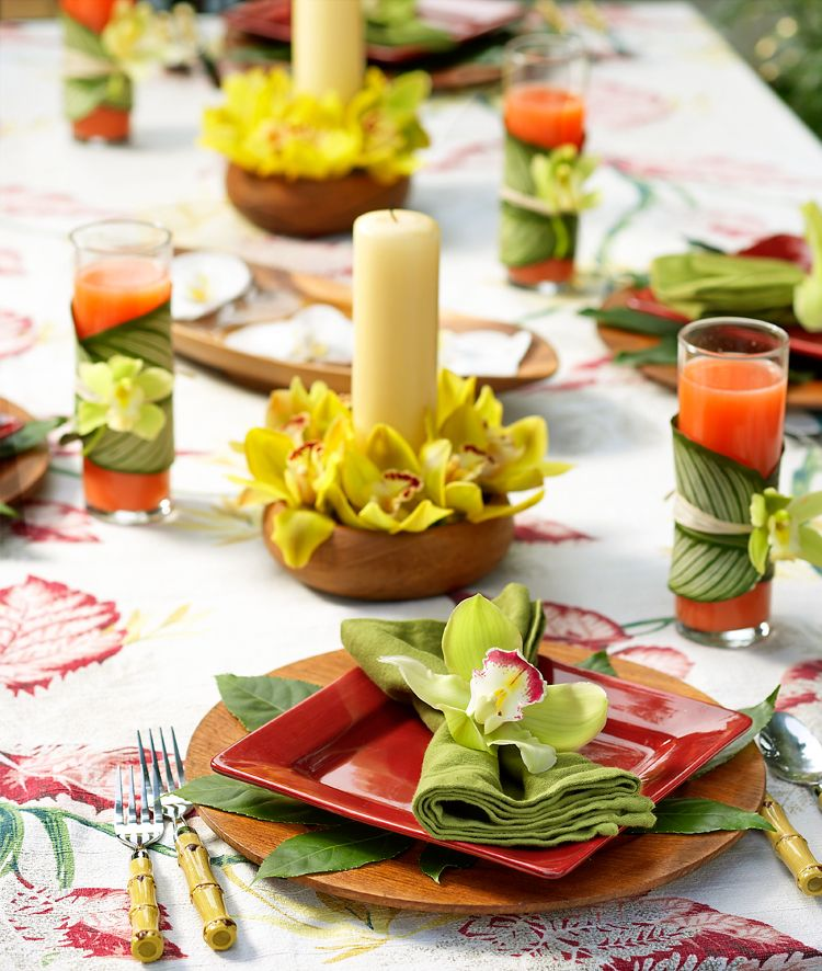 how to host a luau party hawaiian party decorationstable