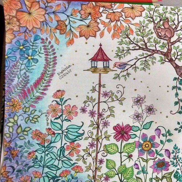 Instagram Photo By Sdnatipm Nathalia Maciel Via Iconosquare Secret Garden Colouring Johanna Basford Coloring Book Secret Garden Coloring Book